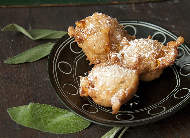 East India inspired fritters containing small, savory chunks of butternut squash and apple, and seasoned with INDIA TREE Cardamom and fresh sage, are ideal for a fall brunch or an evening snack. They are a meal in themselves when served with a mixed salad of fruit, nuts, and greens. Accompany with a mug of good coffee or a hot cup of tea.
