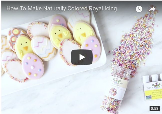 Watch our video on How to Color Royal Icing with our Nature's Colors Decorating Set