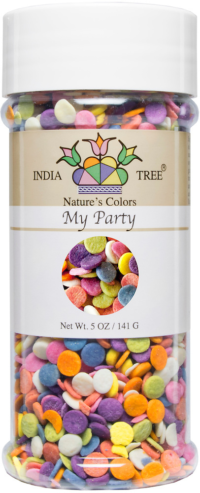 10832 Nature\'s Colors My Party, Small Jar 2.3 Oz | INDIA TREE
