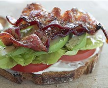 Bacon, Lettuce, Tomato, and Avocado Sandwich