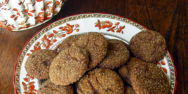 These totally addictive ginger cookies are made using two INDIA TREE sugars from Mauritius--Dark Muscovado and Demerara. They are light, moist and delicate, not hard and chewy like most ginger snaps, and they remain that way for days when stored in an airtight container.